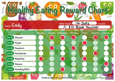 healthy eating childrens reward chart quality uk products