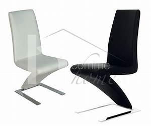 chaise pu noir pu blanc moselle zd1 c d ec 127