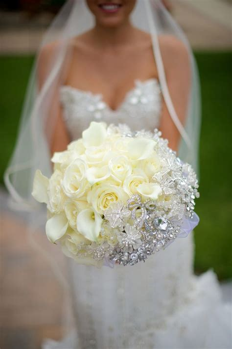 184 Best Images About Wedding Bouquet Bling On Pinterest