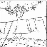 Laundry Coloring Pages Clothing sketch template