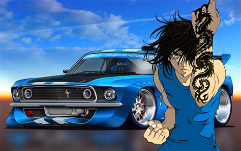 Anime Car Wallpaper - animated boy wallpapers 55