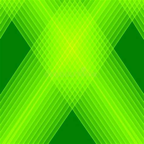 Abstract Green Background Bright Green Lines Geometric