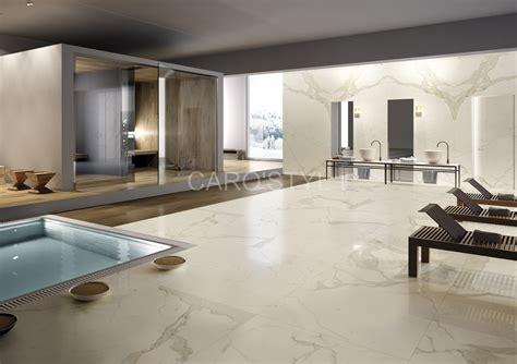bains de si e salle de bain en marbre calacata carrelage et salle de