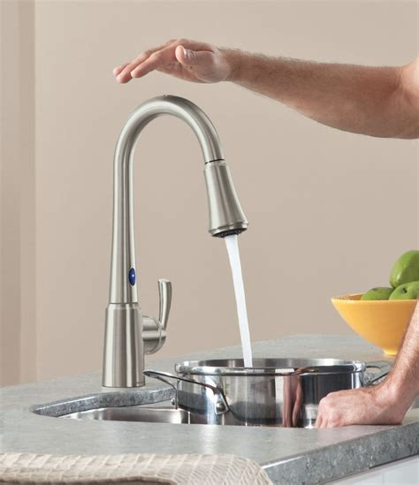 touch activated kitchen faucets top kitchen faucets light sensor awesome touch sensor