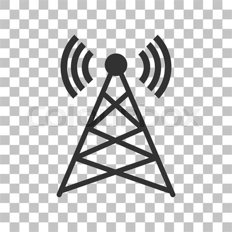 antenna sign illustration dark gray icon  transparent