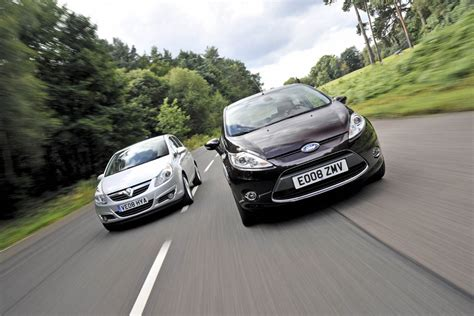 vauxhall ford ford fiesta vs vauxhall corsa auto express