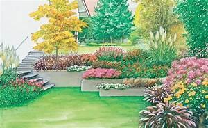 Gartengestaltung Böschung Gestalten : hanggarten planen anlegen und tipps schweben stufen und treppe ~ Markanthonyermac.com Haus und Dekorationen