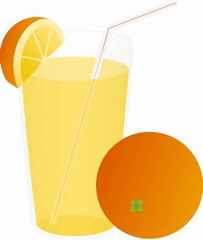 Juice Orange Clipart Clip Cartoon Glass Cliparts