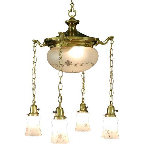 l shade ceiling fixture brass 1910 antique ceiling light fixture 5 cut glass