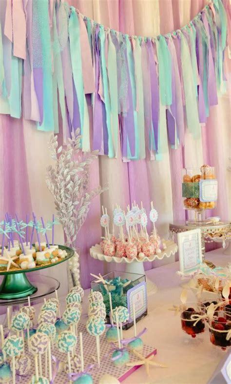 karas party ideas whimsical mermaid girl twins ocean