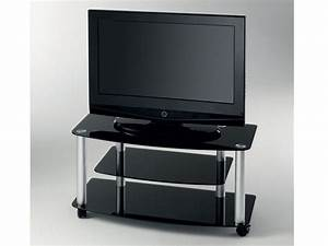 TV glass stand with wheels Millenium