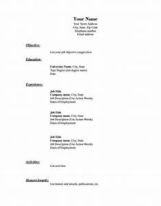Blank resume template 15 free psd vector eps ai for Blank resume template download