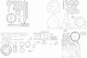 Wood Gear Clock Dxf - Blueprints PDF DIY Download How To