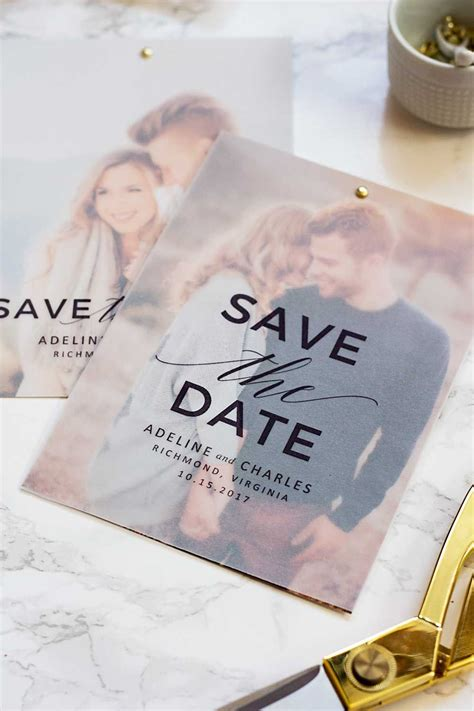 Make these gorgeous save the dates at home with this free