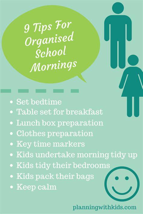 10 Tips For Organised School Mornings
