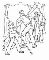 Camping Coloring Pages Printable Sheets Tent Fun Together Camp Working Install Activity Colouring Scout Preschool Getcoloringpages Popular Raisingourkids Places Help sketch template