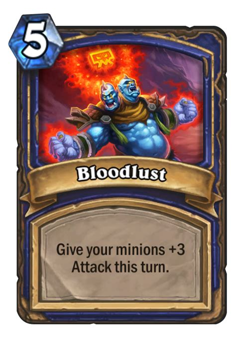 basic shaman deck hearthstone 2014 bloodlust hearthstone card