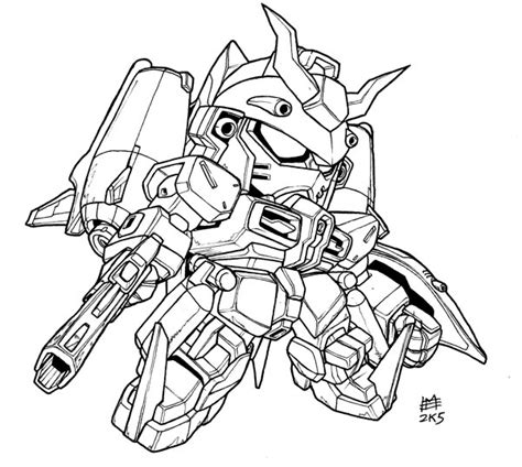 Coloring Gundam by Gundam Free Coloring Pages
