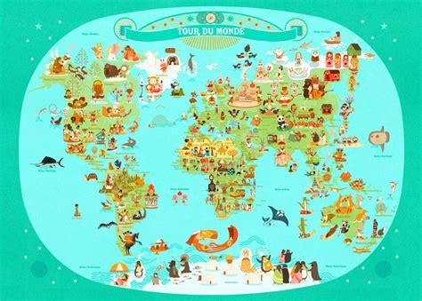 julie cuisine le monde tour du monde julie mercier planisphère enfant l 39 affiche moderne kid s room