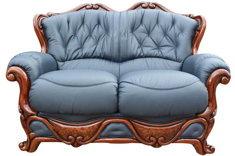 italian leather settee illinois 2 seater italian leather sofa settee offer blue