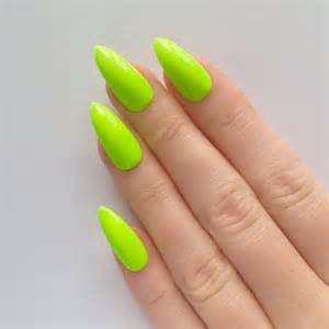 Neon green stiletto nails nail designs by prettylittlepolish