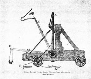 projectile throwing engines With catapult diagram