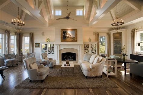 Great Room Ceiling Fans Living Room Transitional With
