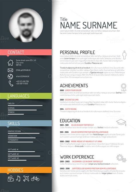 Cv Coloré Gratuit by Resume Template With Cover Letter Cv Template Ms Word