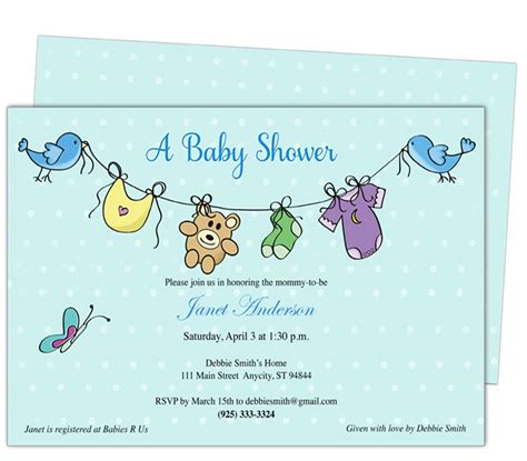 baby shower invitations for word templates free baby shower invitation templates microsoft word free baby shower invitation templates