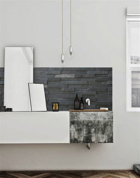 slate tiles kitchen walls backsplash wallpaper  lime