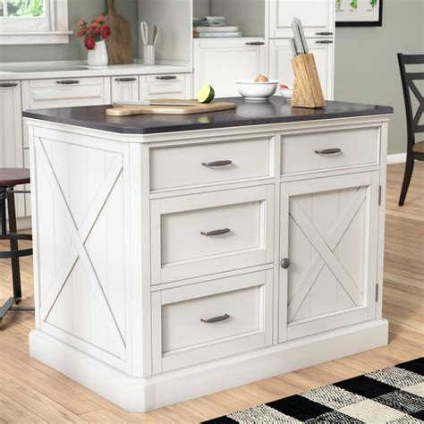 white kitchen cart island laurel foundry modern farmhouse ryles kitchen island with 1362