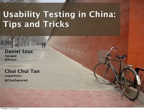 Usability Testing In China  Tips And Tricks (chui Tan