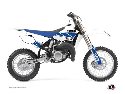 kit deco pour 85 yz yamaha 85 yz dirt bike replica graphic kit white blue