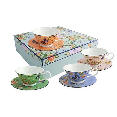 Aynsley China Cottage Garden Set Of 4 Mixed Windsor