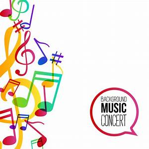 Musicbackground and colored musical notes vector 07 ...