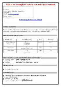 simple job resume format pdf performa of resume exle of a invoice