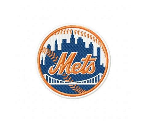 New York Mets Logos Machine Embroidery Designs For Instant