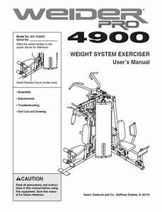 Weider Pro 4900 User Manual Assembly Instructions Pdf