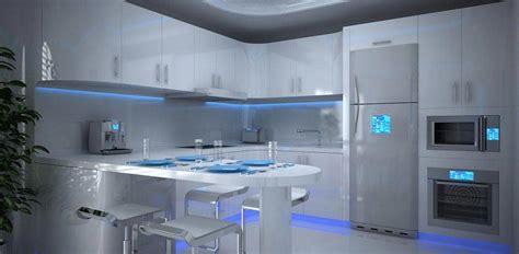 cuisine futuriste l éclairage led une précieuse astuce luminaire pour