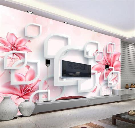 stereoscopic tv wall murals living room sofa background