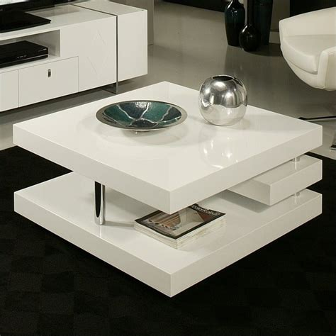 white glass coffee table features
