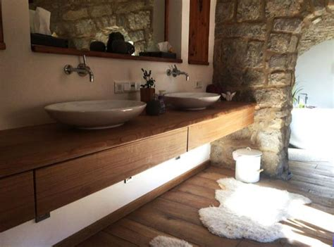 Waschtisch Eiche Geölt by Waschtischunterschrank Aus Holz Rustikal Massiv Eiche
