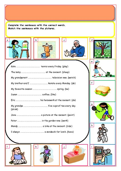 Transform English Worksheets Present Continuous Tense For Your 184 Free Present Simple Vs