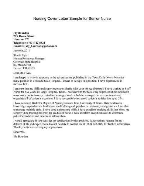 cover letter  nursing httpwwwjobresume
