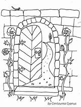 Coloring Gate Garden Wall Pages Gates Cyanus Fairy Mentve Innen Uploaded User sketch template