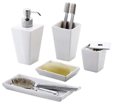 Jamila Bathroom Accessories  Contemporary Bathroom