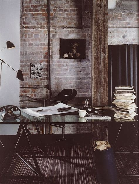 brick wall office exposed brick the perfect blend of contemporary rustic and industrial homedesignboard
