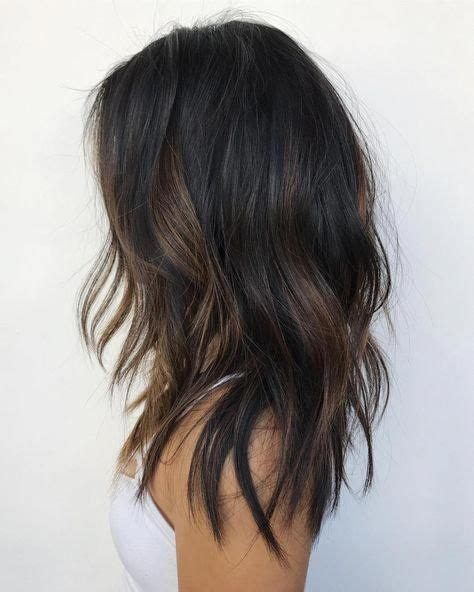 Black Hair With Subtle Brown Highlights #hairbeauty