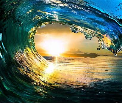 Waves Tropical Screensavers Ocean Sea Paradise Landscape