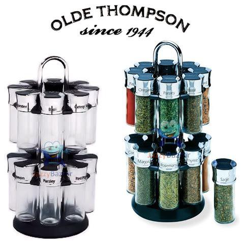 Rotating Spice Holder by Olde Thompson Orbit Spice Rack 16 Glass Herb Spice Jars